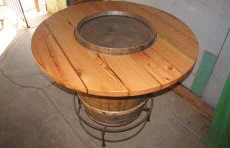 Heritage Salvage pedestal base table 05