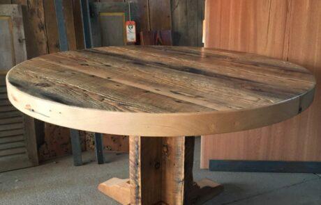Heritage Salvage pedestal base table 06