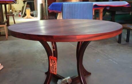 Heritage Salvage pedestal base table 08
