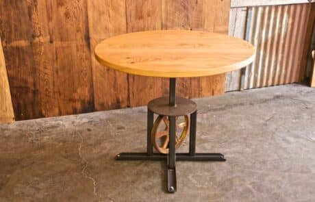 Heritage Salvage pedestal base table 12