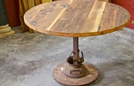 Heritage Salvage pedestal base table 13