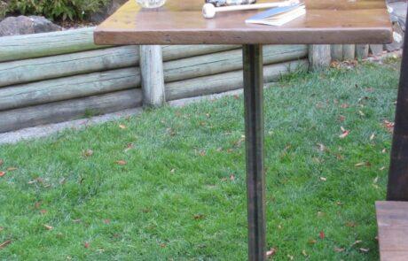 Heritage Salvage pedestal base table 15