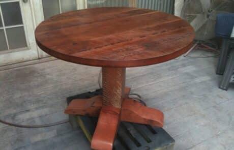 Heritage Salvage pedestal base table 17
