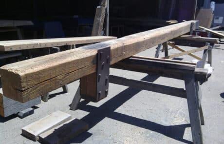 Heritage Salvage reclaimed hand hewn beams 18