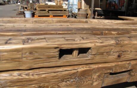 Heritage Salvage reclaimed hand hewn beams 36