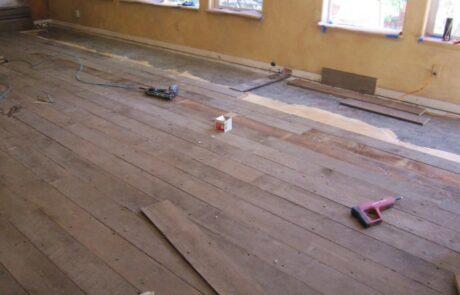 Heritage Salvage shiplap flooring installation 04