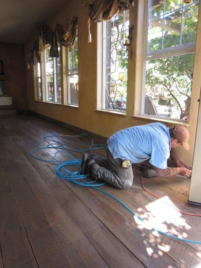 Heritage Salvage shiplap flooring installation 08